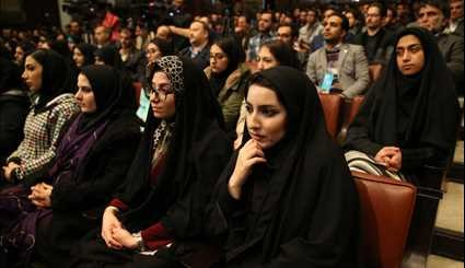 President Rouhani in Tehran University for students' ceremony