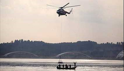 9 survivors in helicopter crash in Chitgar Lake