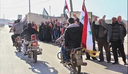 Residents of Nubl & Al-Zahra Celebrate Recent Army Victories in Aleppo