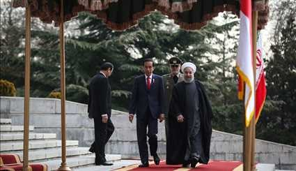 Rouhani welcomes Indonesian counterpart officially