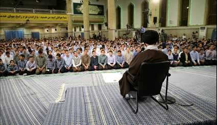 Leader meets with students on their Jashn-e Taklif ceremony