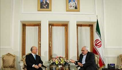 Zarif, IAEA head meet in Tehran
