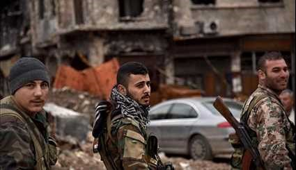 Syrian Army Soldiers Guarding Aleppo's Old City