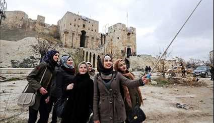 Tourists' Selfie in Aleppo