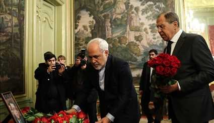 Zarif pays tribute to assassinated Russian amb.