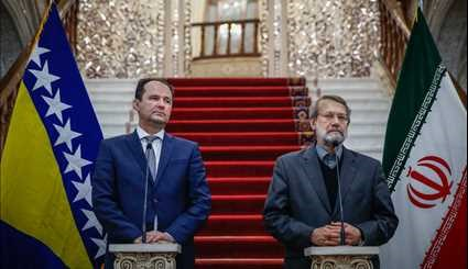 Larijani meets with Bosnian counterpart
