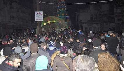 Syrian Christians in Homs & Aleppo Celebrate Army Victories
