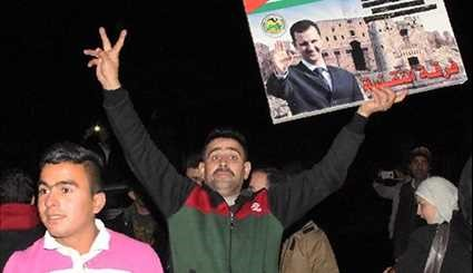 Syrians Gather in Liberated Aleppo to Celebrate Army' Victory over Terrorists