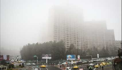 Foggy sky of Tehran