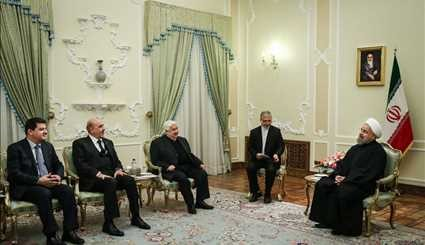 Rouhani meets with Syrian FM