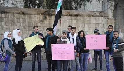 Syrians Hold Vigil, Hopping for New Syria without Terrorism