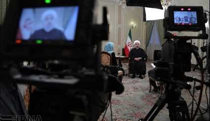 President Rouhani talks to nation in live TV program