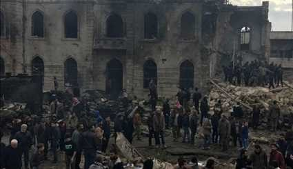 Explosion in Azaz in Northern Aleppo Province Leaves at Least 60 Dead