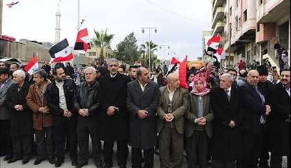 Syria: Civilians in Kiswa Celebrate Return of Peace