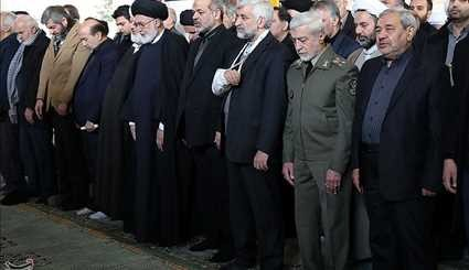 Ritual Prayers at Ex-President's Funeral Led by Ayatollah Khamenei