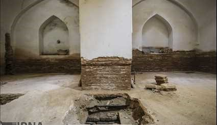The newly discovered structures under Imam Square in Isfahan