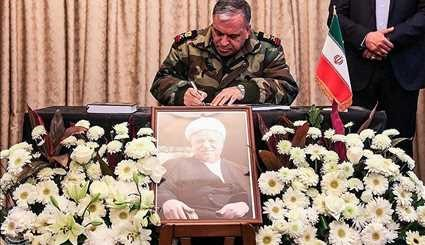 Ayatollah Hashemi Rafsanjani's memorial service at the Iranian embassy in Syria