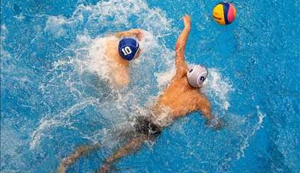 A match of Iran's Water Polo League in Isfahan