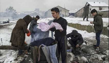 Desperate Conditions of Refugees in European Camps
