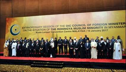 Foreign ministers of the Islamic Summit Conference in Malaysia