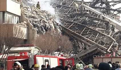 Famous 15-Story Plasco Building Collapses in Iran's Capital Tehran After blaze