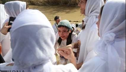 Orthodox Christians baptized in Jordan River