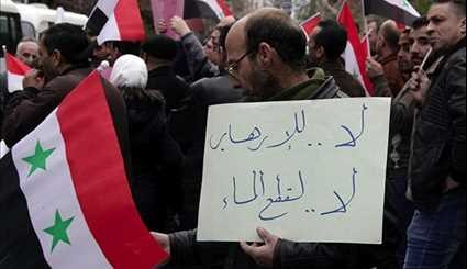 Damascus: Residents Condemn Terrorists for Water Shortage
