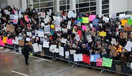 PROTESTS ERUPT OVER TRUMP'S TRAVEL BAN