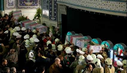 Funeral ceremony of martyred firemen starts