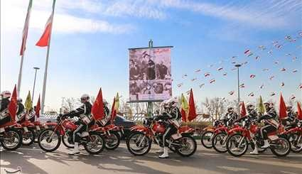 Motorcycle Parade Held on Anniversary of Imam Khomeini's 1979 Arrival in Tehran
