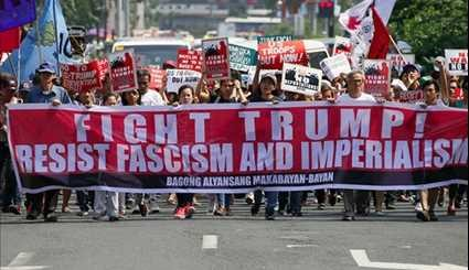 Indonesians, Filipinos Protest Trump's Immigration Policy