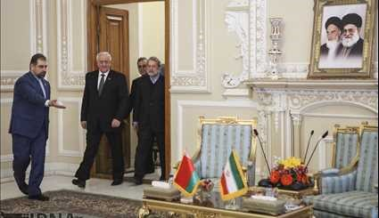 Larijani meets with Belarusian counterpart