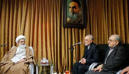 AEOI head meets with clerics in Qom