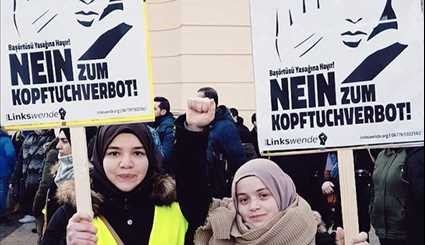 Thousands March against Racist Burqa Ban Plan in Austria