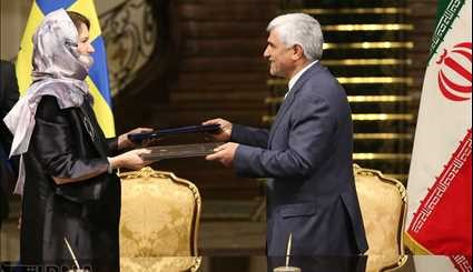 Signed five documents of cooperation between Iran and Sweden
