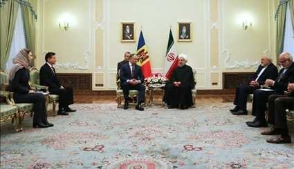 Pres. Rouhani meets with Moldovan counterpart