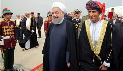 Iranian President arrived in Oman