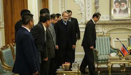 Larijani meets with N Korean official