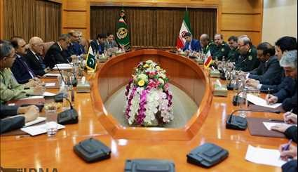 Defense minister, senior Pakistani official meet in Tehran