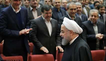 Rouhani attends congress on 2017 Presidential Elections