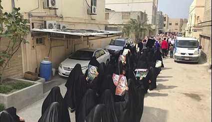 Bahraini People Show Support for Sheikh Issa Qassim during Protest Rallies