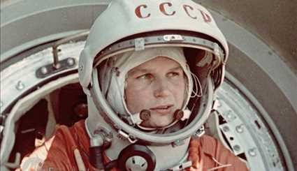 The first woman who set foot on space