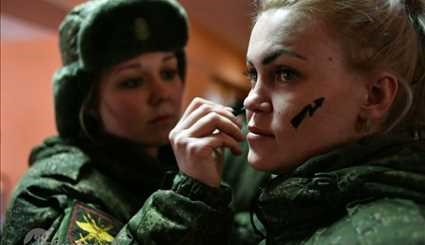 Russian female army officers compete