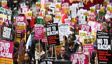 30,000 Protest against US President, UK Government, Brexit in London