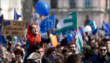 EU treaty anniversary sees protests and marches in major cities