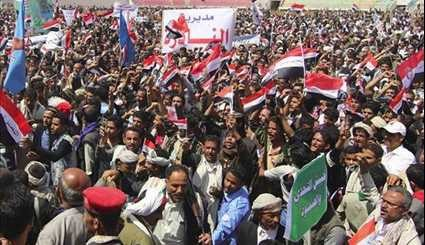 Thousands Gather in Massive Protest to US-Sponsored Saudi Terrorism in Yemen