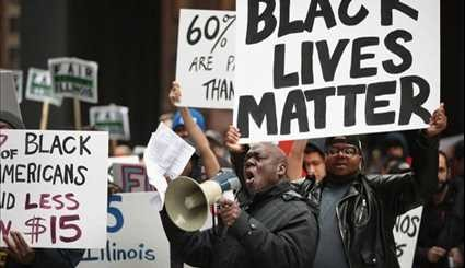 Black Lives Matter Protesters, Living Wage Activists Rally in Chicago