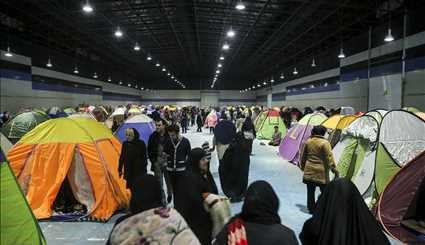 Mashhad people in temporary accommodation