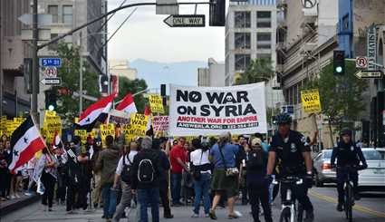 Protesters at White House, US cities over Trump's missile attack on Syria