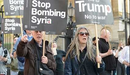 Protest against Trump's Airstrikes in Syria